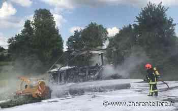 Champniers : un gyrobroyeur prend feu - Charente Libre