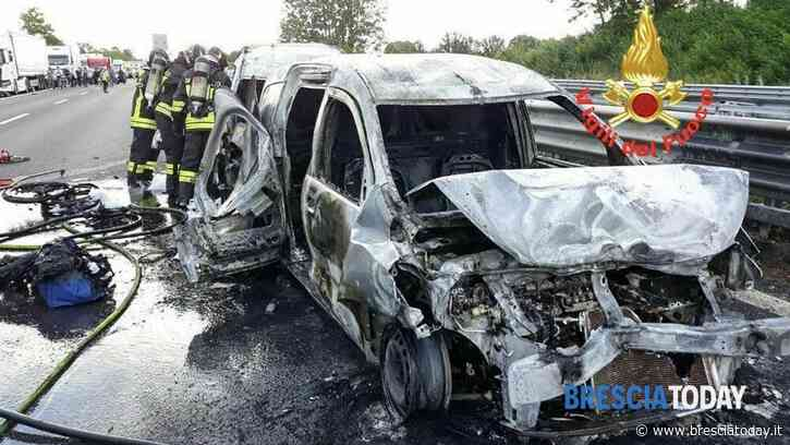 Maxi incidente tra 7 veicoli, 9 i feriti: traffico nel caos e fiamme in strada - BresciaToday