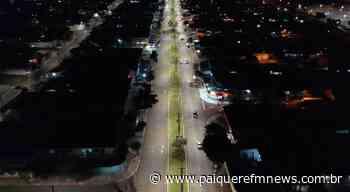 Prefeitura coloca LED na avenida Lúcia Helena Gonçalves Viana - Paiquerê FM News