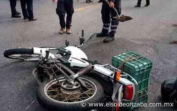 [Video] Choca motociclista contra patrulla en Escamela - El Sol de Orizaba