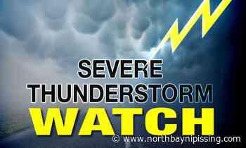 UPDATE: Heat warning, thunderstorm watch for North Bay, Powassan, West Nipissing now over - NorthBayNipissing.com