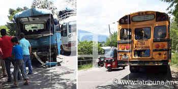 Varios lesionados deja choque entre buses en Santa Bárbara - La Tribuna.hn