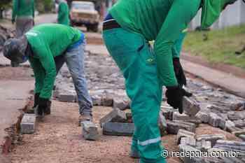 Material doado pela Albras é usado na pavimentação das ruas de Barcarena - REDEPARÁ