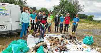 À Landerneau, le club de l'Elorn handball réalise une collecte de déchets - Le Télégramme