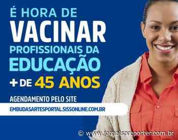 Embu das Artes abre agendamento para profissionais da educação com mais de 45 anos - Jornal SP Repórter News