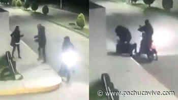 Video muestra el momento en que asaltan a una mujer en Tizayuca - Pachuca VIVE