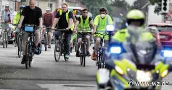 Von Erkrath Hochdahl bis Hilden: Radfahrer-Protest gegen A3-Ausbau - Westdeutsche Zeitung