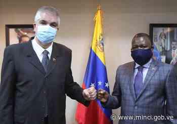 Viceministro Pimentel sostuvo reunión con el cónsul de Angola en Venezuela - MippCI - MinCI