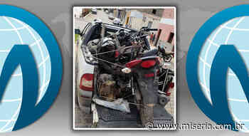 PM de Nova Olinda recupera moto roubada e descobre desmanche de veículos - Site Miséria
