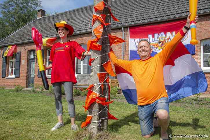 """Op stap in grensdorp Poppel, waar Duivels- én Oranjegekte volop leeft: """"Hopelijk spelen ze tegen elkaar"""""""