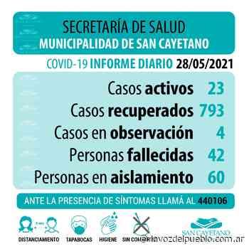 San Cayetano sumó cinco nuevos casos de coronavirus - La Voz del Pueblo