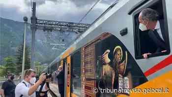 Inaugurato il treno elettrico tra Conegliano e Belluno - La Tribuna di Treviso