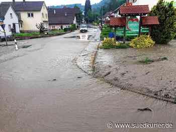 Stockach: Landstraße 194 überschwemmt: Unwetter halten Stockacher Feuerwehr auf Trab - SÜDKURIER Online