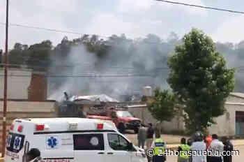 Arde fábrica de colchones en San Pedro Cholula; no se reportan heridos (+video) - 24 Horas El Diario Sin Límites Puebla