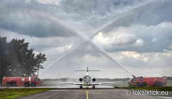 Neues Exxaero-Flugzeug am Airport Weeze getauft - Lokalklick.eu - Online-Zeitung Rhein-Ruhr