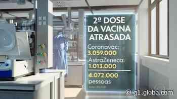 Mais de 4 milhões ainda não foram tomar a segunda dose da vacina contra Covid - G1
