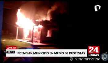 Iquitos: incendian municipio distrital por cortes de electricidad | Panamericana TV - Panamericana Televisión