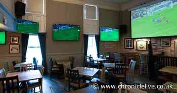 Newcastle pubs showing the Euros