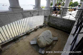Archaeologists dig hilltop over Plymouth Rock one last time - Boston 25 News