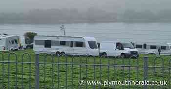 Travellers in seven caravans arrive at Mount Gould Park - Plymouth Live