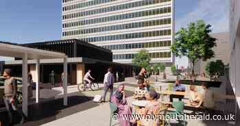 Posh new plaza with outdoor dining at Plymouth railway station - Plymouth Live