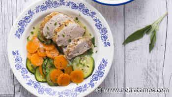 Filet mignon à la sauge, carottes et courgettes vichy - Notre Temps