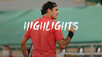 French Open tennis - Highlights: Roger Federer battles through in late night clash with Dominik Koepfer - Eurosport.com