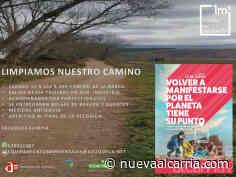 Actividad municipal de voluntariado para limpiar el Camino de la Barca en Azuqueca - nueva alcarria