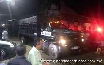 Con seguridad, envían a Tuxtla Gutiérrez boletas de Huixtla - El Heraldo de Chiapas