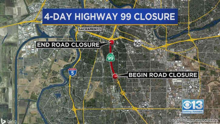 Sacramento Highway 99 Closure Starts Friday Night: How To Get Around It