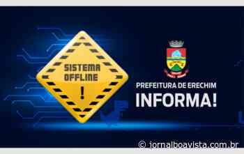 Serviços online da prefeitura de Erechim estarão indisponíveis no próximo domingo para testes e avaliações - Jornal Boa Vista