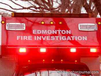 Explosion starts fire at apartment building in central Edmonton