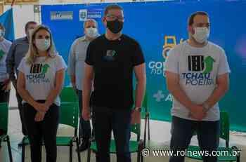 Governador inicia obras de asfaltamento do Tchau Poeira em Ariquemes - ROLNEWS