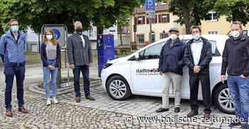 Neue Ladesäule und E-Auto in Breisach - Breisach - Badische Zeitung