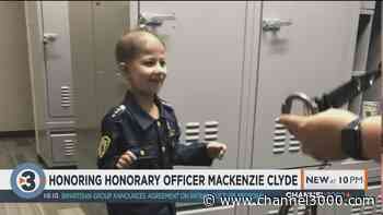 DeForest Police Department remembers honorary officer Mackenzie Clyde - Channel3000.com - WISC-TV3