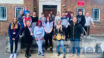 Boxer Shannon Courtenay visits North Herts education centre - The Comet