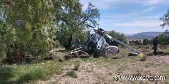 Cae helicóptero de la Fuerza Aérea Mexicana en inmediaciones de Santa Lucía; no hubo víctimas - XeVT