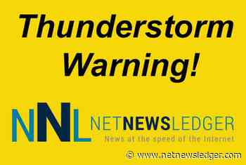 Severe Thunderstorm Watch for Ignace - English River - Atikokan - Shebandowan - Net Newsledger