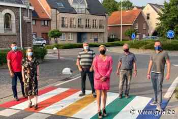 Eerste regenboogzebrapad van gemeente ligt in Sint-Antonius - Gazet van Antwerpen