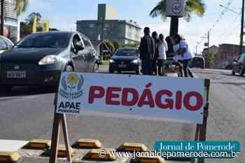 Apae Pomerode fará pedágio beneficente neste sábado - Jornal de Pomerode