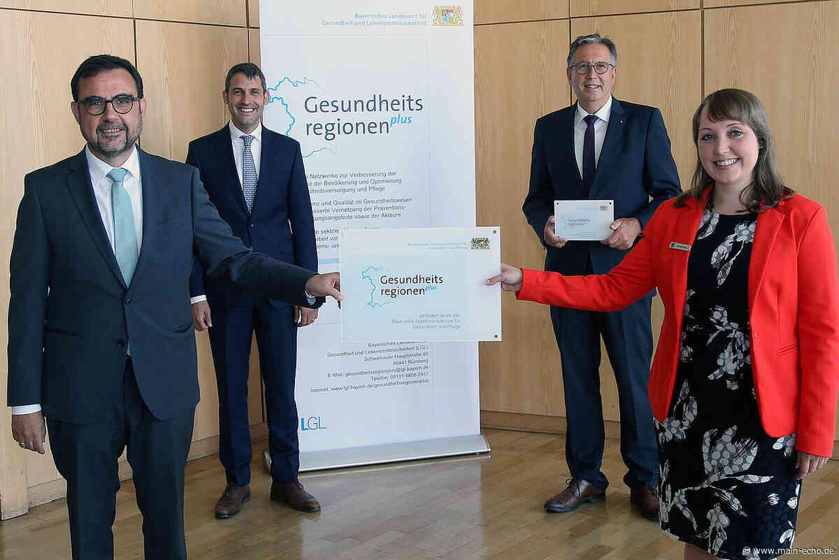 Holetschek wirbt bei Übergabe der Förderplakette für die Gesundheitsregion plus in Aschaffenburg für Mut - Main-Echo