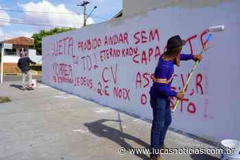 Pichações são removidas no bairro Tessele Junior em Lucas do Rio Verde-MT - Lucas Notícias