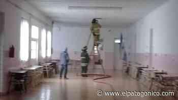 Principio de incendio en un colegio de La Loma - El Patagonico