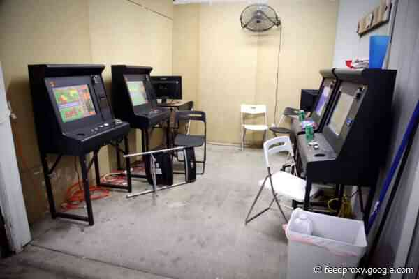 The Garden Grove police busted an illegal gambling operation at a home