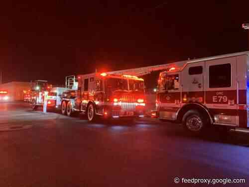 Firefighters battled two blazes in Santa Ana last night and early this morning