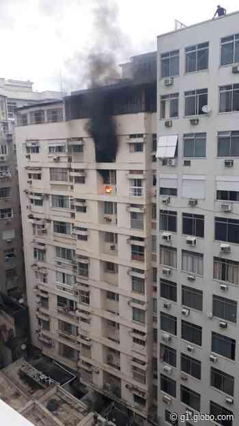 Incêndio atinge apartamento em Copacabana - G1