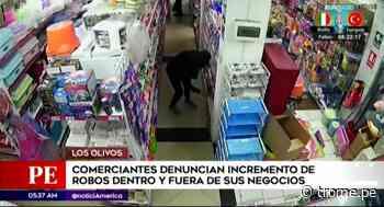 Los Olivos: comerciantes denuncian incremento de robos en sus negocios - Diario Trome