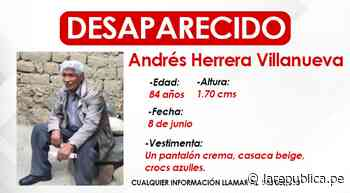 Los Olivos: familia pide apoyo para encontrar a anciano desaparecido - LaRepública.pe