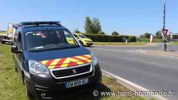 Près d'Yvetot, une cycliste chute après avoir percuté une voiture - Paris-Normandie