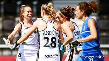 Deutsche Hockey-Damen erreichen souverän EM-Halbfinale - NDR.de